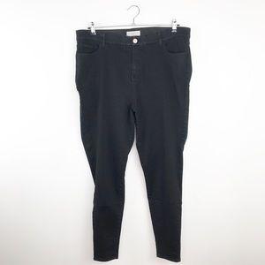 Eloquii black high rise skinny jeans